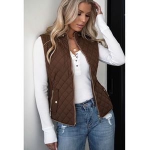 Quilted Vest - Active USA - L